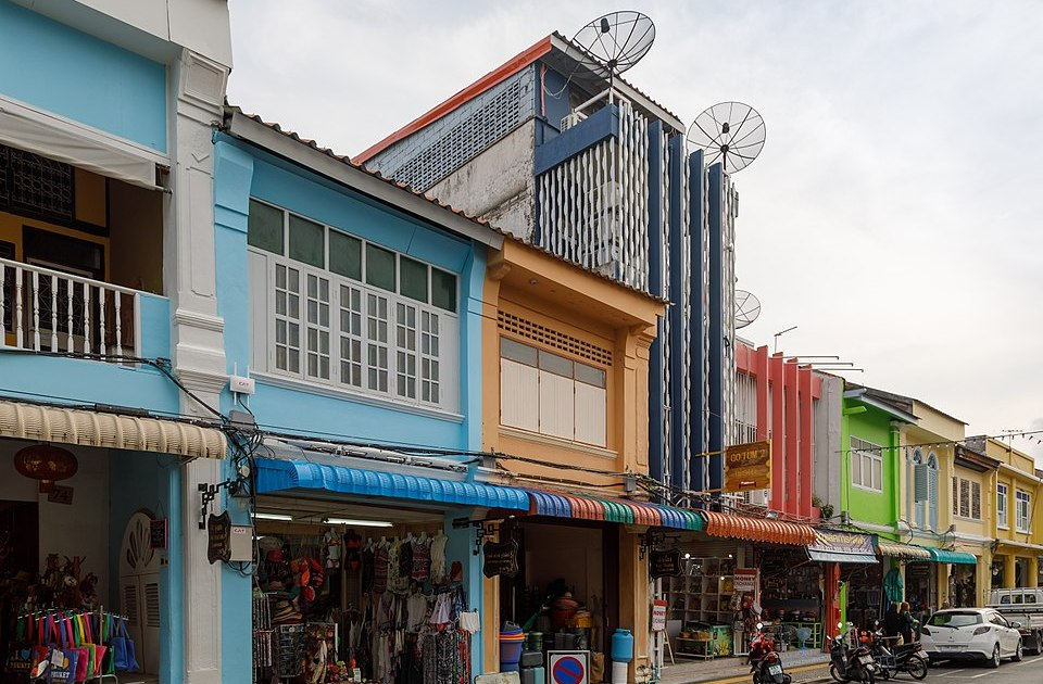 Houses in Thalang Road, Phuket