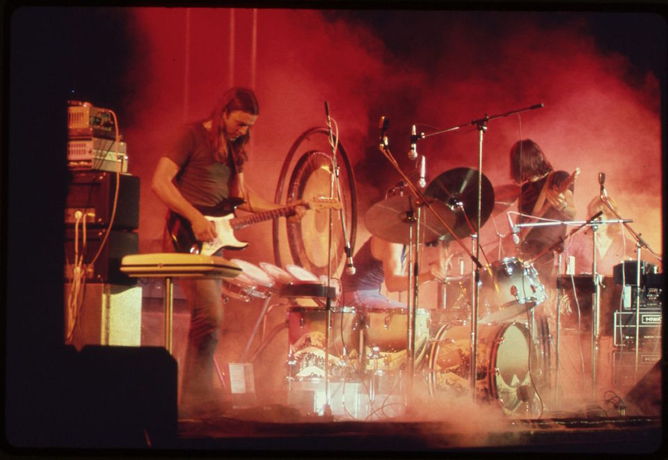 Pink Floyd live in concert in 1973