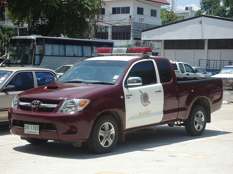 Parked Thai Police pickup