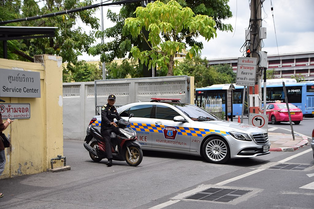 Police car and motorcycle in Thailand