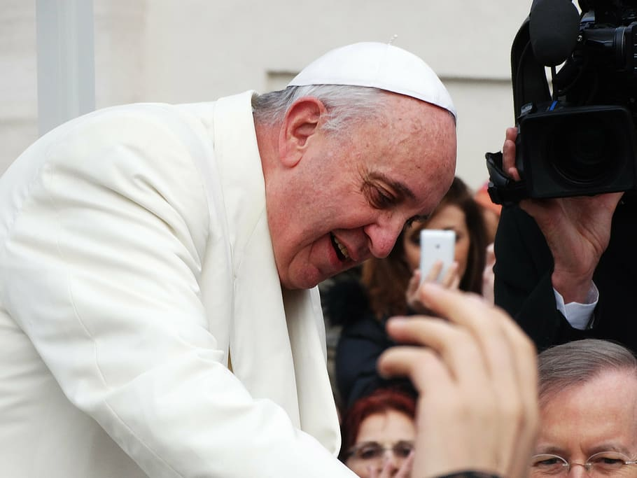Pope Francis during a visit