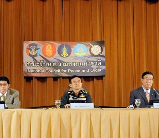 Wissanu Krea-ngam and NCPO officials