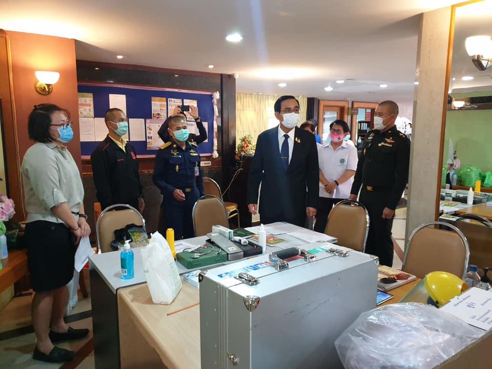 Prime Minister Prayut on a visit during COVID-19 coronavirus outbreak