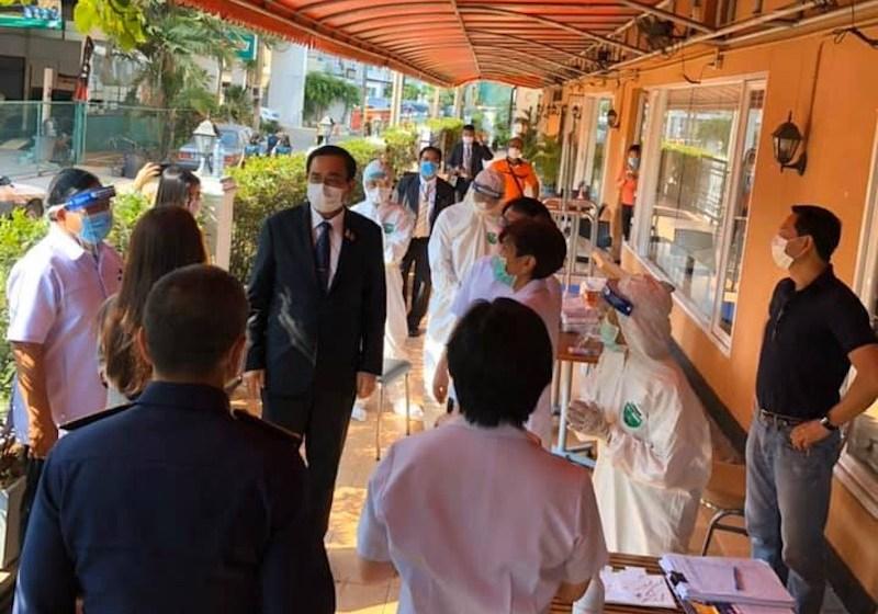 Prime Minister Prayut wearing a face mask during COVID-19 coronavirus outbreak