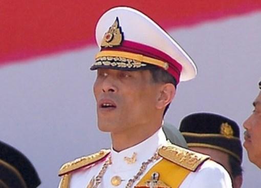 King Maha Vajiralongkorn at a ceremony in Bangkok