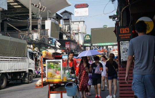 People walking on Bangla Road in Patong, Phuket