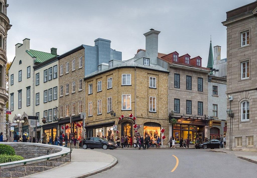 La rue Port-Dauphin in Quebec city, Canada