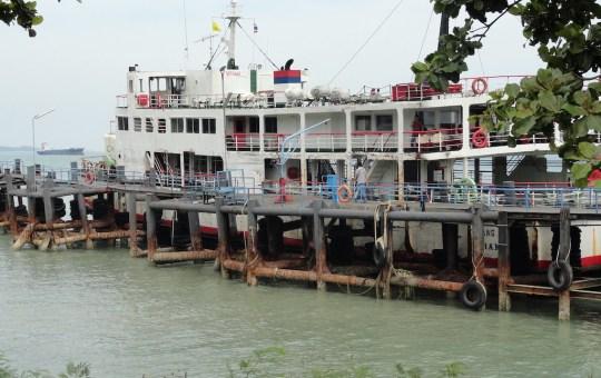 Raja Ferry at Don Sak Pier in Surat Thani