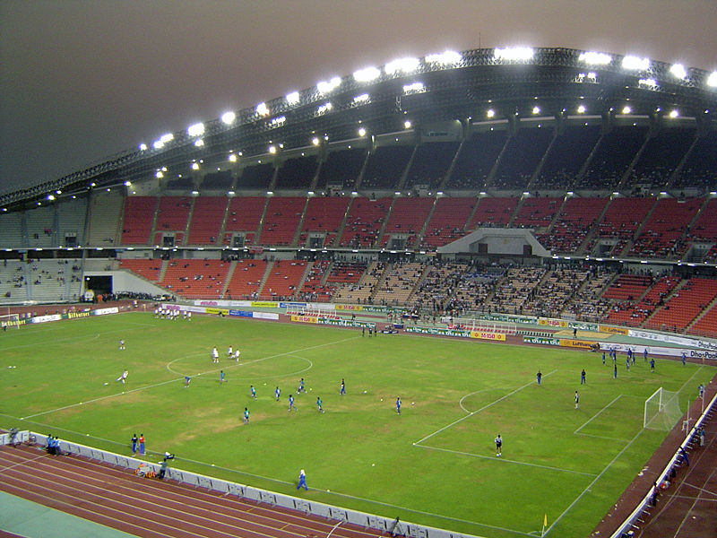 Bangkok Rajamangala Stadium at night