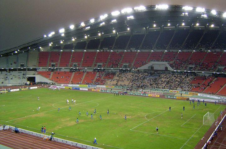 Bangkok Rajamangala Stadium at night