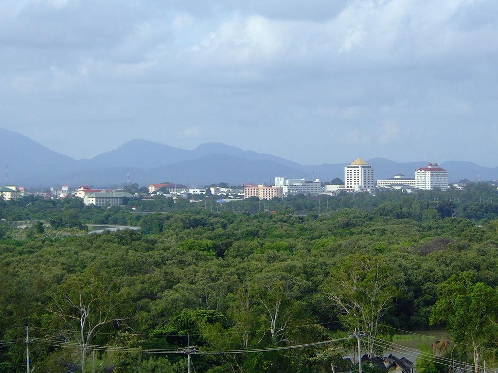 View of Rayong City from Kantary Bay hotel