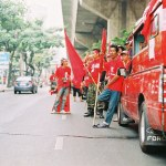 Red Shirts during the 2010 protets in Sukhumvit, Bangkok