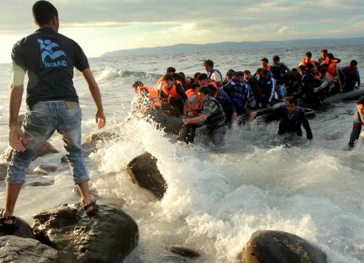 Refugees and migrants arriving in Greece
