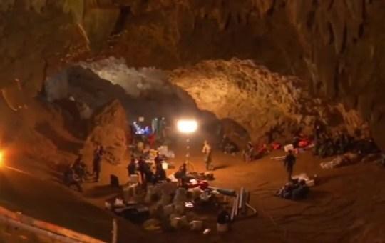 Rescue team at Tham Luang cave, Chiang Rai