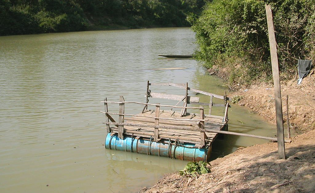 Raft on the Chi river