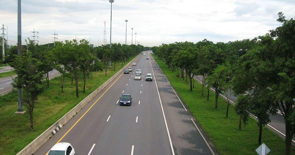 Highway in Singburi Province