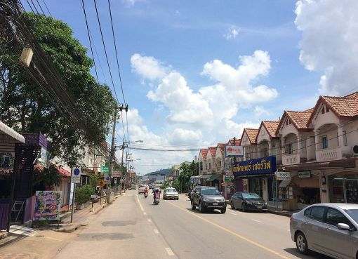 Road in Surat Thani