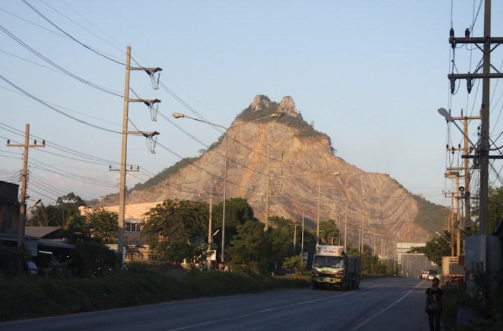 Limestone and sandstone mountain in Saraburi province