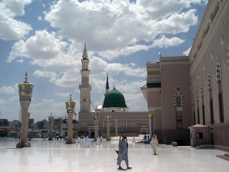 The Prophet Mosque at Al Madinah Province, Medina (Saudi Arabia)