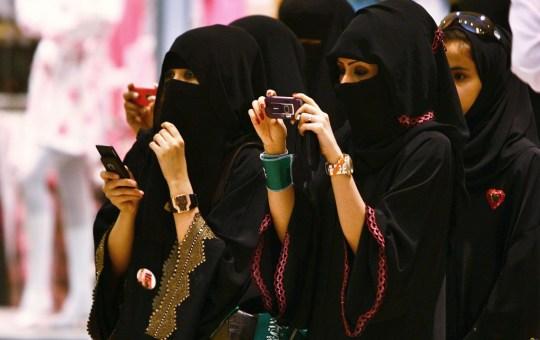 Veiled Saudi women