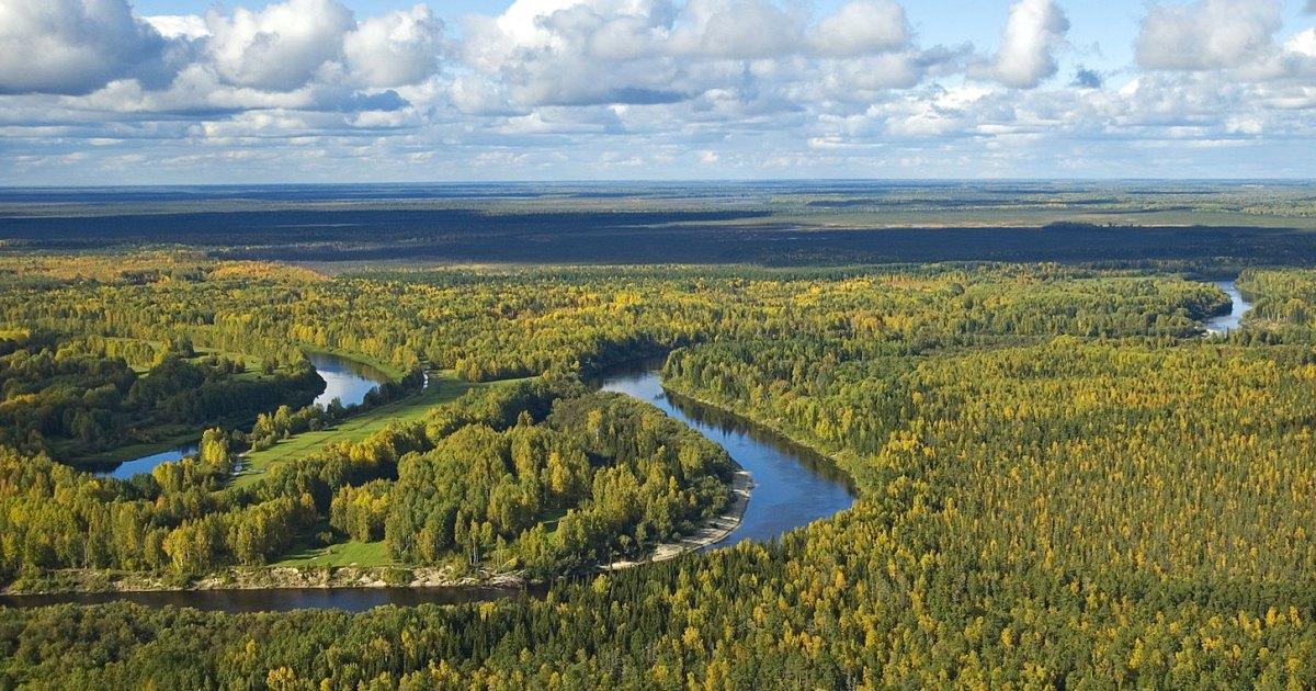 The Vasyugan River in Tomsk oblast, Siberia