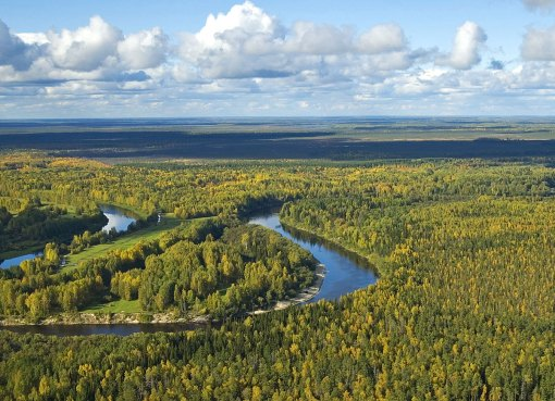 The Vasyugan River in Tomsk oblast, Siberia