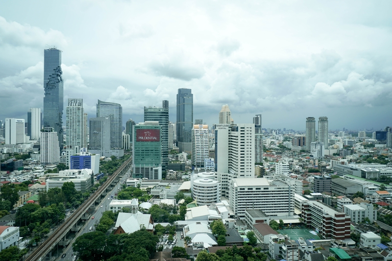 Skyline and City View of Bangkok