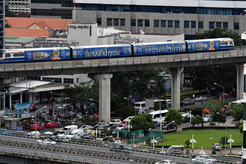 Sky Train in Silom, Bangkok