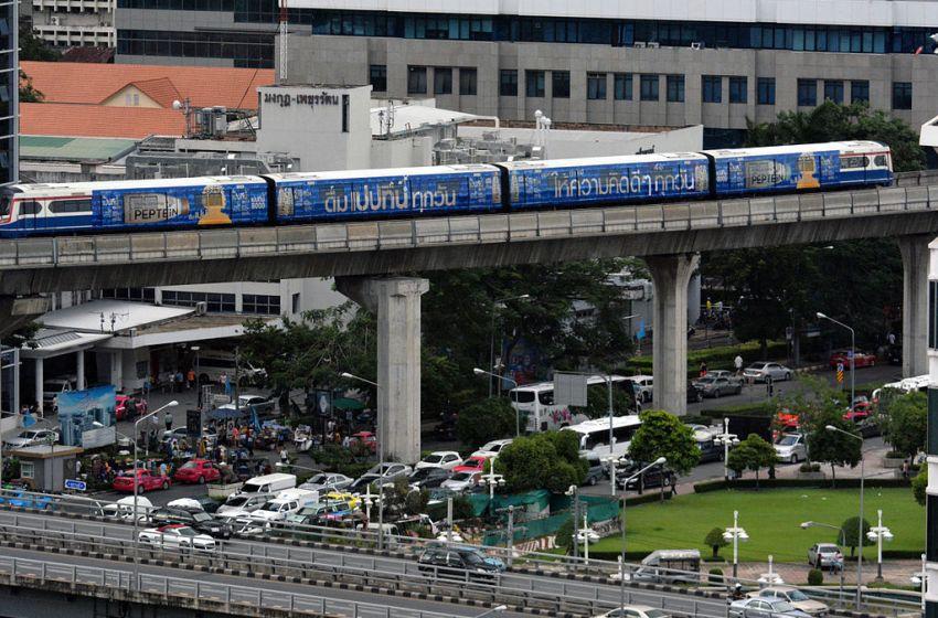 Sky Train in Silom, Bangkok