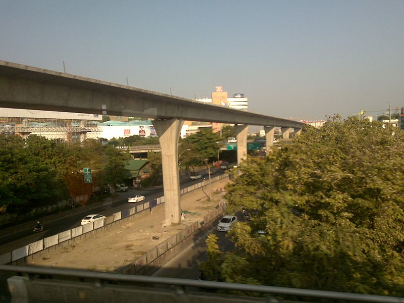 MRT Blue Line Elevated Station