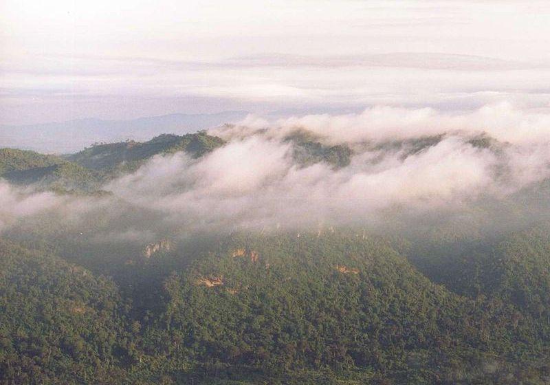 Smoke haze in Phetchabun hills