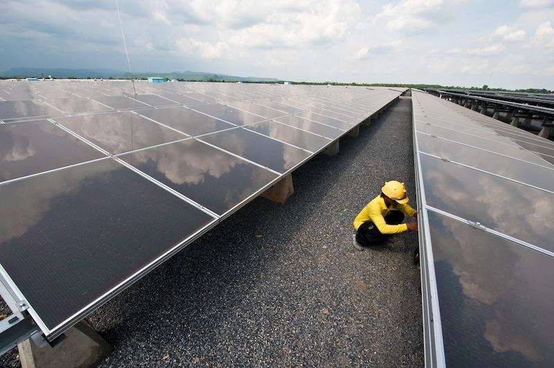 73-megawatt Lopburi solar power plant in central Thailand