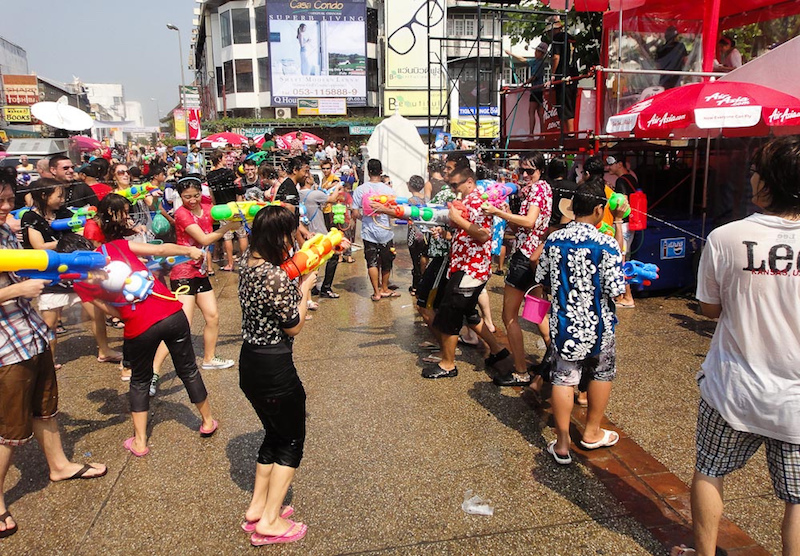Celebrating the Songkran