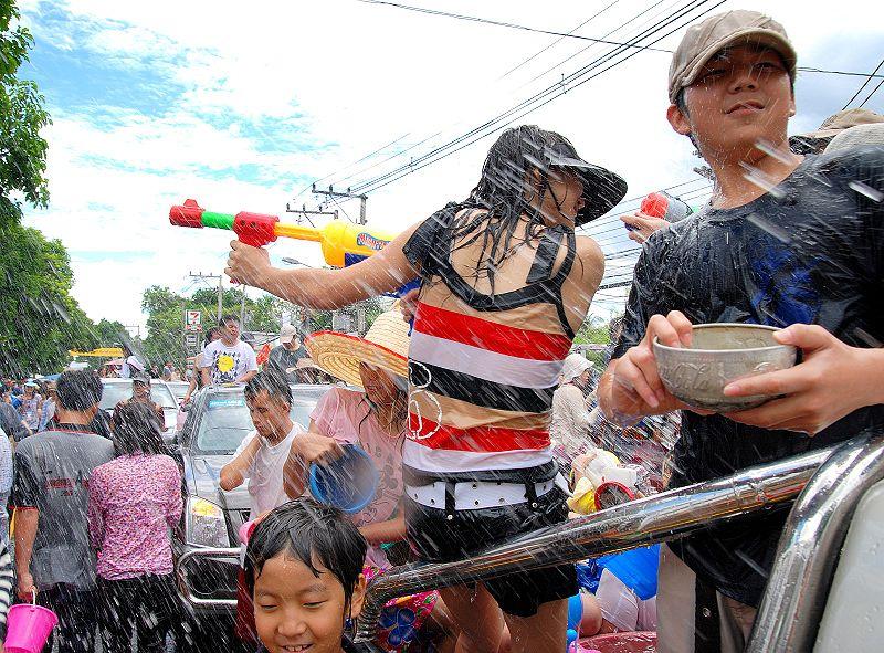 Songkran Water Festival in Chiang Mai
