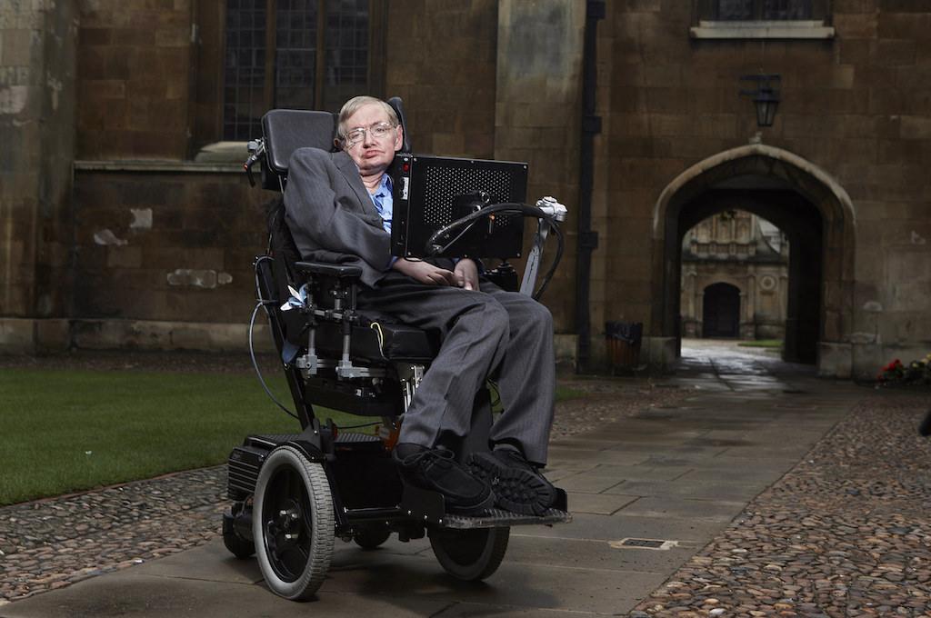 Stephen Hawking at Gonville & Caius College, Cambridge