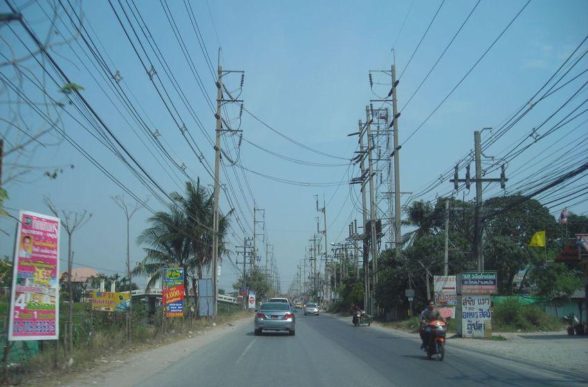 Street in Samut Prakan province