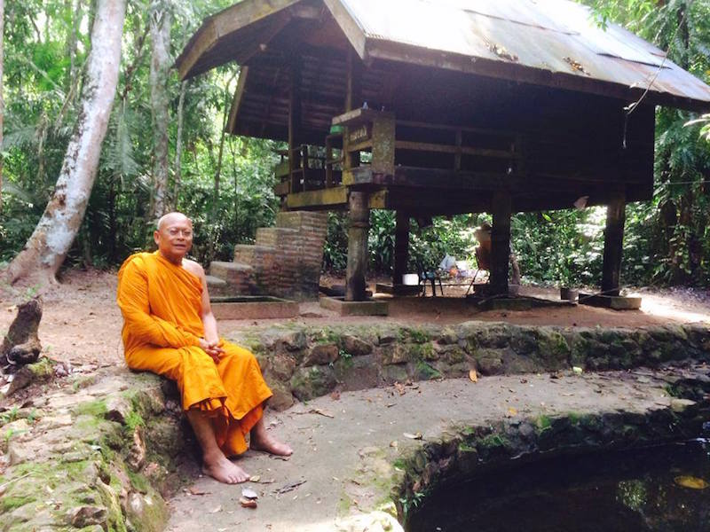 Suthep as Buddhist monk