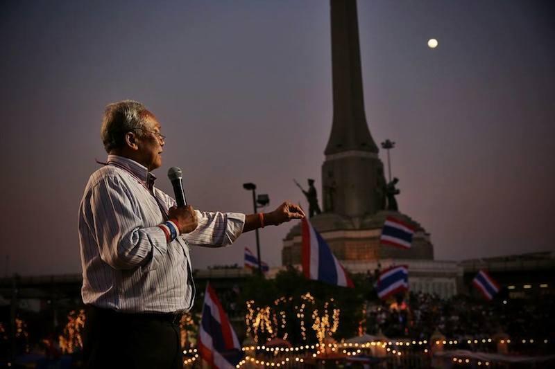 Anti Yingluck Shinawatra protests lead by Suthep Thaugsuban at the Victory Monument, Bangkok