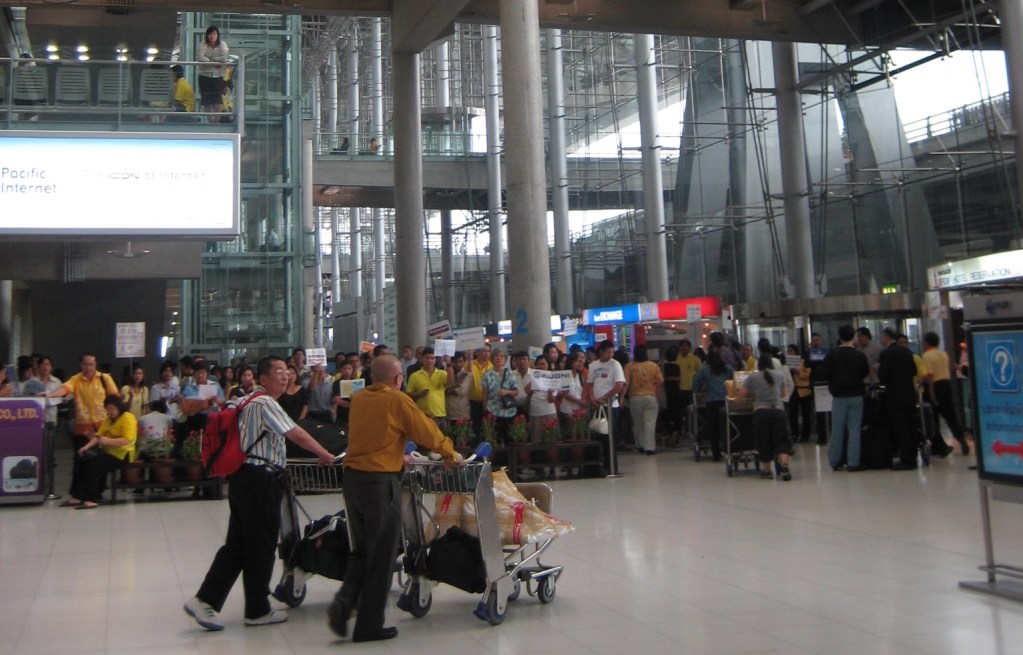 Arrival Hall at Suvarnabhumi Airport in Bangkok