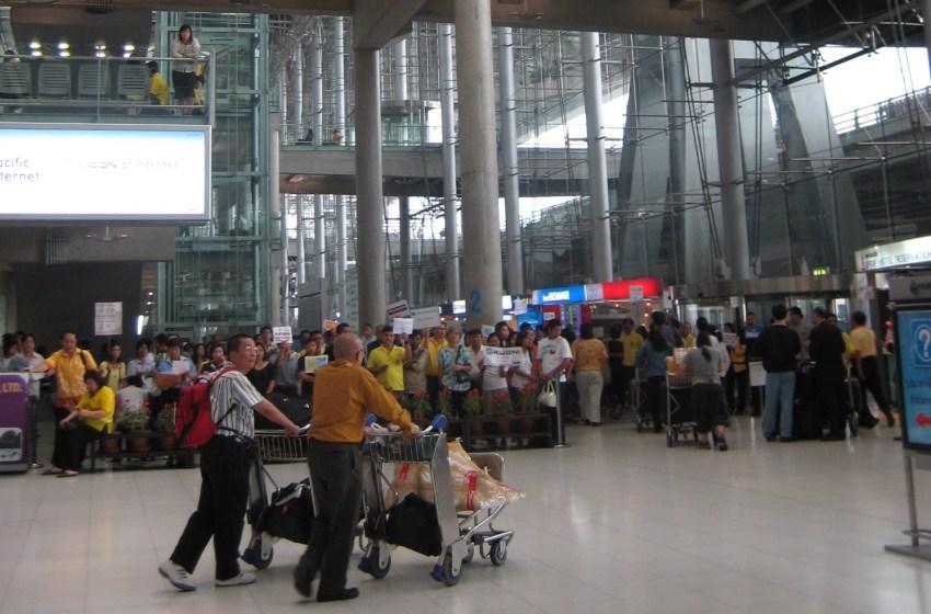 Arrival Hall at Suvarnabhumi Airport in Bangkok