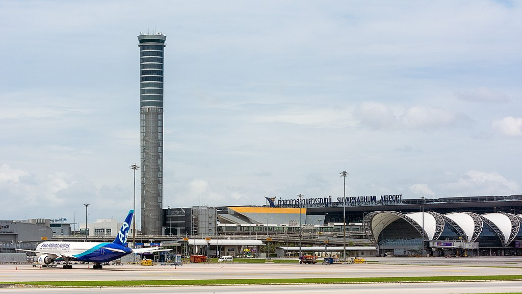 Control Tower at Suvarnabhumi Airport in Bangkok