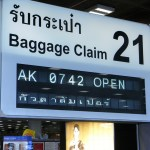 Suvarnabhumi Airport baggage claim sign