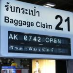 Suvarnabhumi Airport baggage claim sign