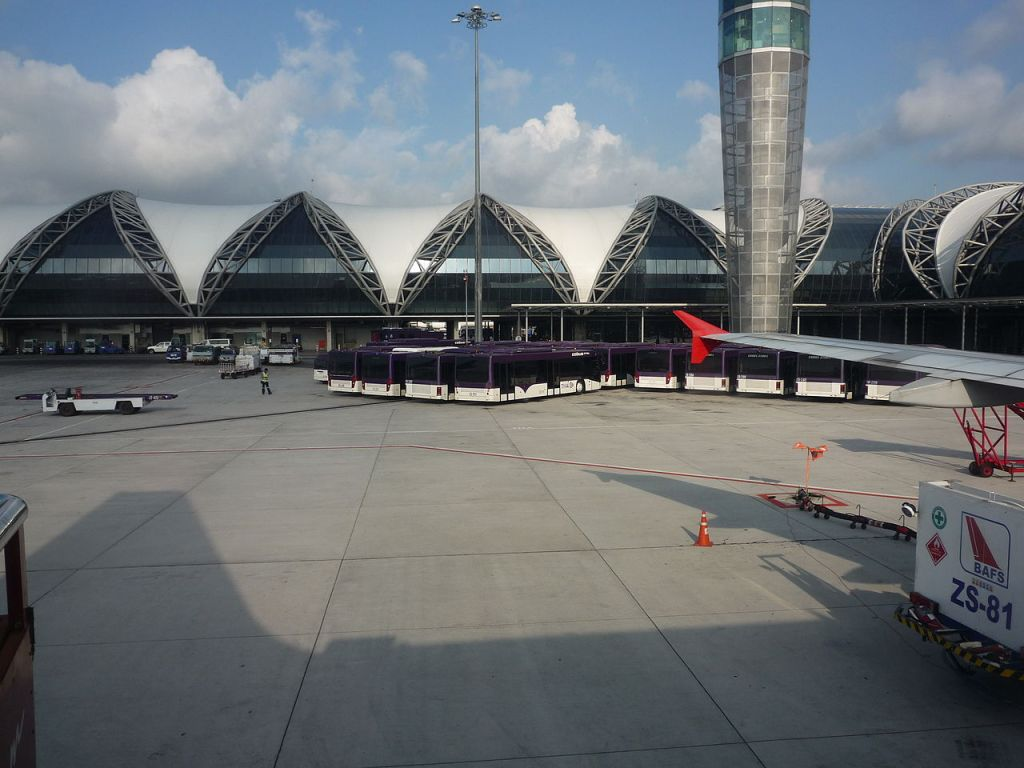 View of Suvarnabhumi International Airport in Bangkok