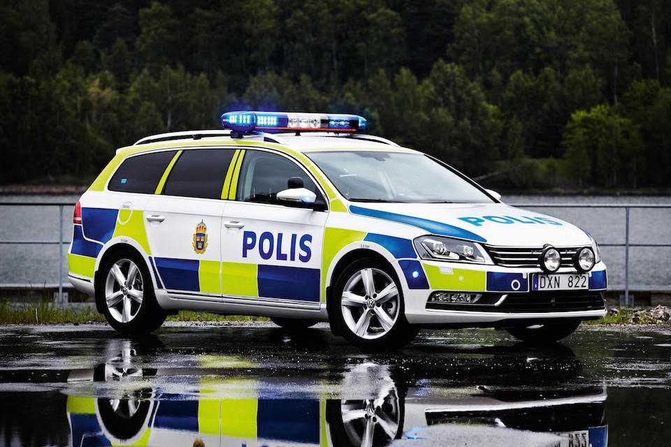 VW Passat Swedish Police car
