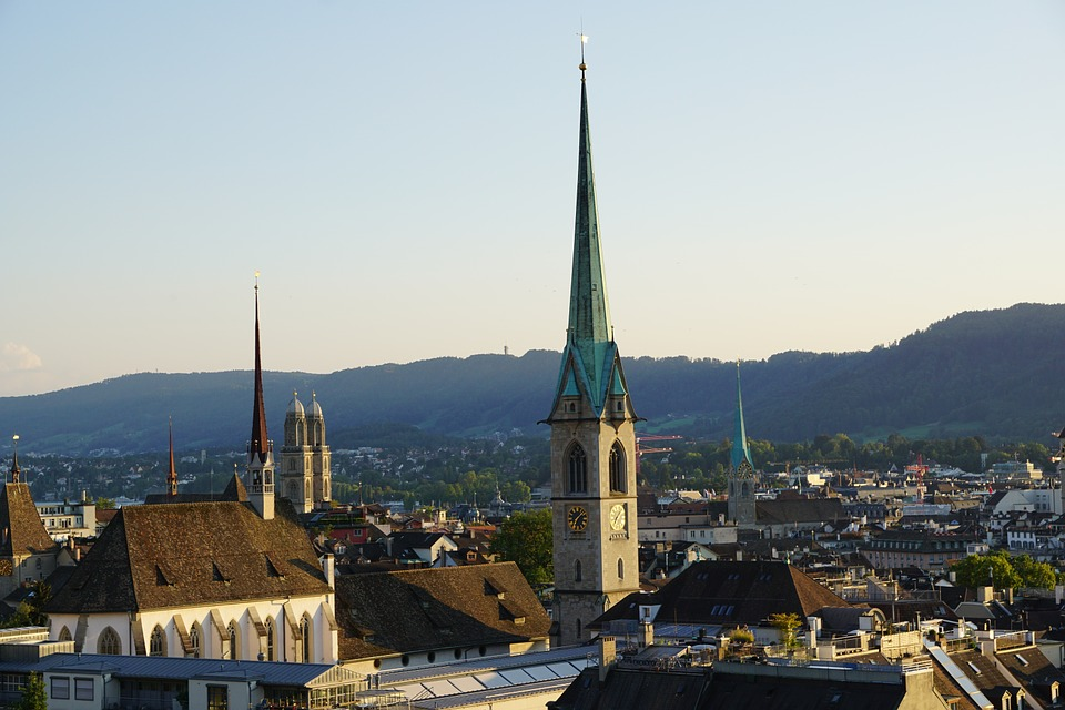 Churches in Zurich old town