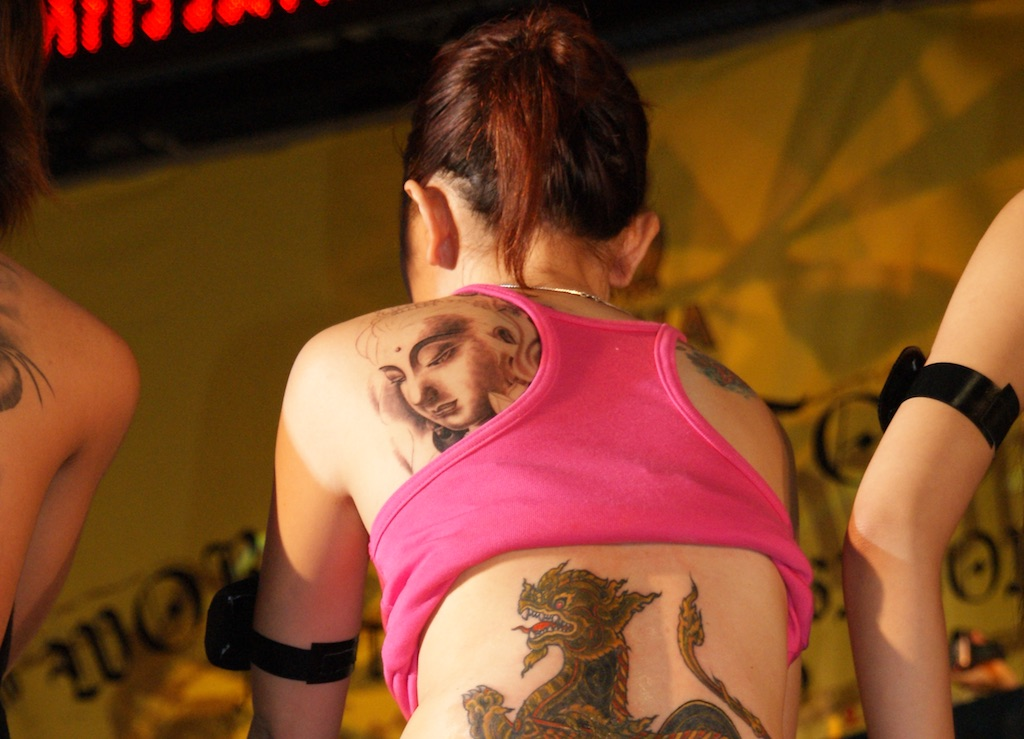 Tattoed girls at Tattoo Arts Festival, Pattaya