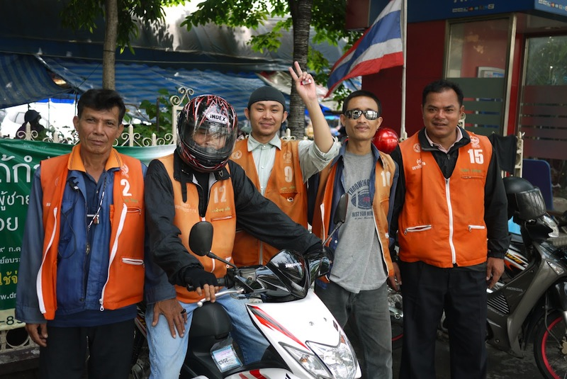Motorcycle taxi in Thailand