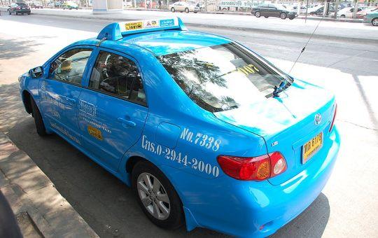 Blue taxi in Bangkok