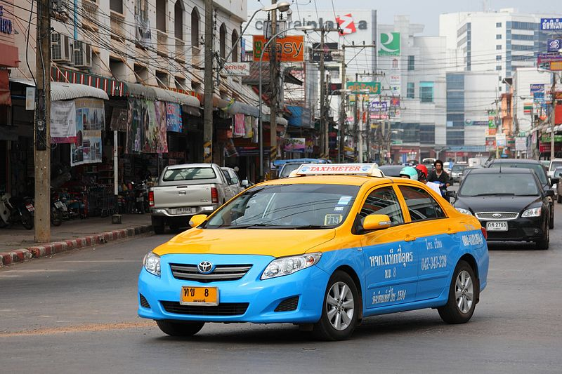 Taxi-meter in Udon Thani, Thailand